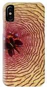 Stapelia Grandiflora - Close Up IPhone Case