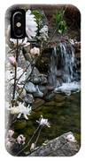 Star Magnolia And Flowing Water IPhone Case