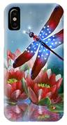 Star Spangled Dragonfly IPhone Case