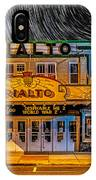 Star Trails Over The Rialto IPhone Case