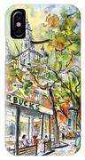 Starbucks Cafe In Budapest IPhone Case