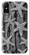 Starfish On Old Wood Black And White IPhone Case