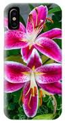 Stargazer Oriental Lilies IPhone Case
