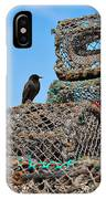 Starling On Lobster Pots IPhone Case