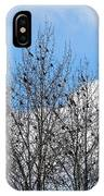 Starlings In The Cottonwoods IPhone Case