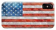 Stars And Stripes With States IPhone Case