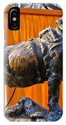 Statue Of Balto In Nyc Central Park IPhone Case