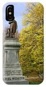 Statue Of Daniel Webster - Central Park IPhone Case