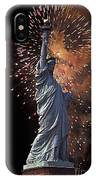 Statue Of Liberty Fireworks IPhone Case