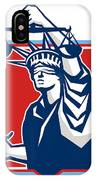 Statue Of Liberty Wielding Sword Scales Justice IPhone Case