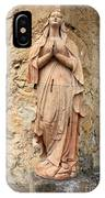 Statue Of Mary In Mission Garden IPhone Case
