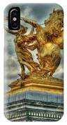 Statue On Pont Alexandre IIi IPhone Case