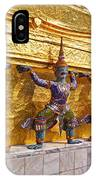 Statues At A Temple, Wat Phra Kaeo IPhone Case