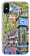 Steam Clock In Vancouver Gastown IPhone Case