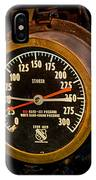 Steam Engine Gauge IPhone Case