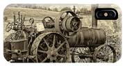 Steam Powered Tractor Sepia IPhone Case