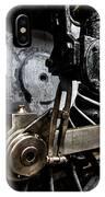 Steam Train Wheels Close Up IPhone Case