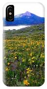 Steamboat Lake And Mt. Hahn IPhone Case