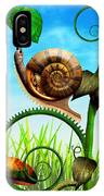 Steampunk - Bugs - Evolution Take Time IPhone Case