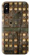 Steampunk - Phones - The Old Switch Board IPhone Case