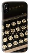 Steampunk - Typewriter - The Age Of Industry IPhone Case