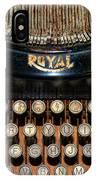 Steampunk - Typewriter -the Royal IPhone Case