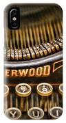 Steampunk - Typewriter - Underwood IPhone Case