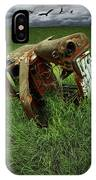 Steel Auto Carcass With Vultures IPhone Case