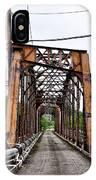 Steel Span Railroad Bridge Manayunk  Philadelphia Pa IPhone Case