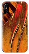 Steinway Piano Golden Inners IPhone Case