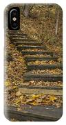 Step Trail In Woods 11 IPhone Case