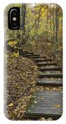 Step Trail In Woods 15 IPhone Case