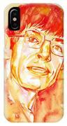 Stephen Hawking Portrait IPhone Case