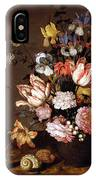 Still Life Of A Vase Of Flowers IPhone Case
