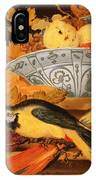 Still Life With Fruit And Macaws, 1622 IPhone Case