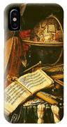 Still Life With Musical Instruments Oil On Canvas IPhone Case