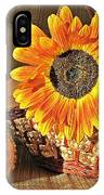 Stillife With  The Sunflower And Pumpkins IPhone X Case