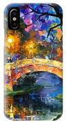 Stone Bridge - Palette Knife Oil Painting On Canvas By Leonid Afremov IPhone Case