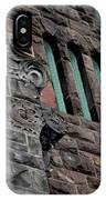 Stone Building Facade With Trefoil Window And Carved Detail IPhone Case