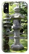 Stone Pagoda And Lantern IPhone Case
