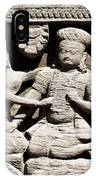 Stone Relief In Patan's Durbar Square IPhone Case
