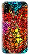 Stone Rock'd Heart - Colorful Love From Sharon Cummings IPhone Case