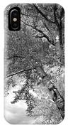 Storm Over The Cottonwood Trees - Black And White IPhone Case