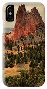 Storms Passing Over The Garden IPhone Case