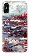 Stormy Lake Abstract IPhone Case