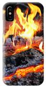 Stove - The Yule Log  IPhone Case