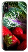 Strawberries And Kale. IPhone Case