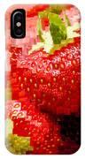 Strawberry Mosaic IPhone Case