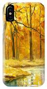 Stream In The Forest - Palette Knife Oil Painting On Canvas By Leonid Afremov IPhone Case