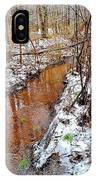Stream In The Winter Forest IPhone Case